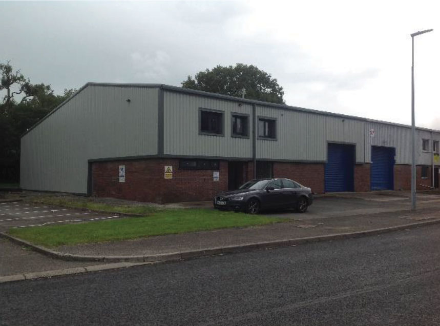 Industrial Unit Cladding and Windows replaced
