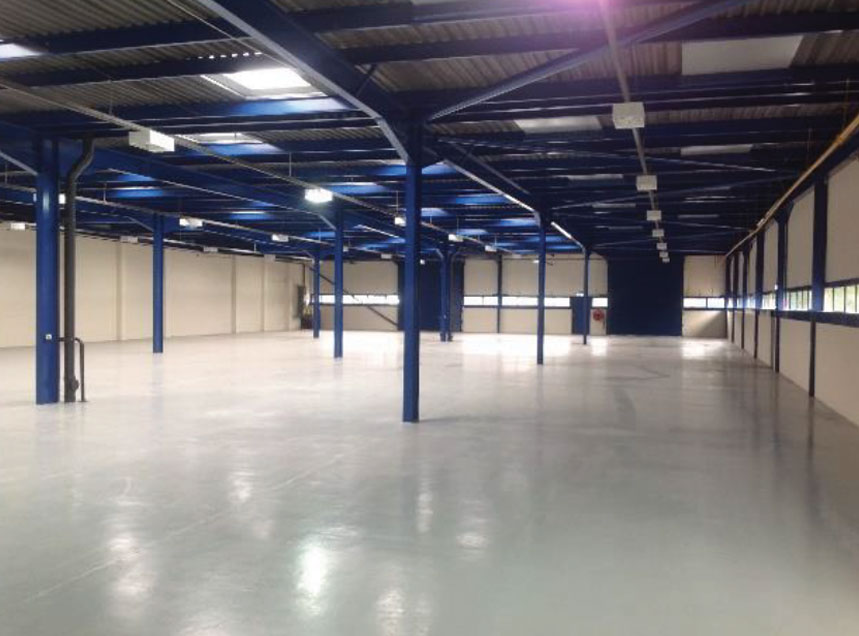 Epoxy floor coatings for industrial buildings